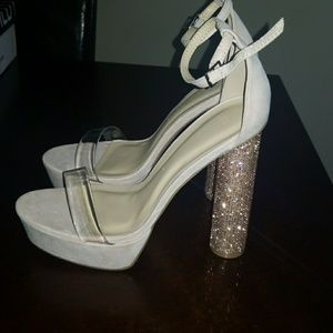 Mauve. Bling heels